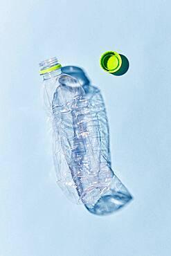Studio shot of empty plastic bottle