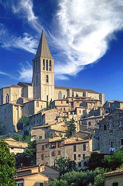 Italy, Tuscany, Val D'Orcia, Pienza, Medieval town on hill