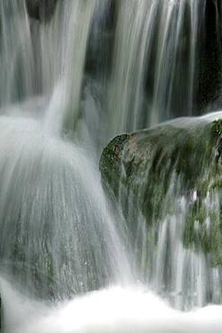 USA, Colorado, Aspen, Close-up of waterfall over stones