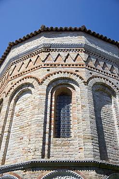 Window of Byzantine church Santa Fosca Torcello Italy