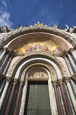 The Last Judgment Byzantine mosaic St Mark's Basilica Piazza San Marco Venice Italy