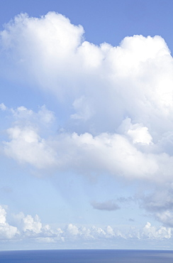 Cloudy sky over sea, St. John, United States Virgin Islands