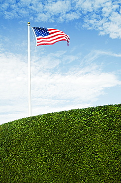 View of American flag