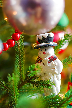 Close up of Christmas tree with decorations