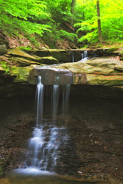 Waterfall in forest, USA, Ohio