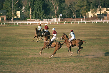 A game of polo at the Lahore Race Club in Pakistan, Asia
