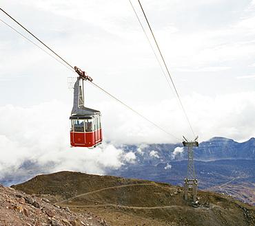 Cable car to Mount Teide, Tenerife, Canary Islands, Spain, Atlantic, Europe