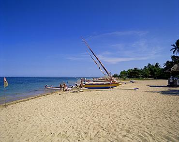 Prahu boat, Sanur Beach, Bali, Indonesia, Southeast Asia, Asia