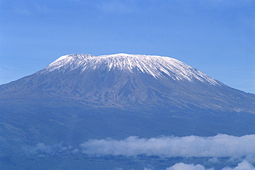 Mount Kilimanjaro, UNESCO World Heritage Site, seen from Kenya, East Africa, Africa