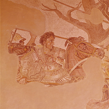 Pompeii mosaic of Alexander the Great dating from 1st century BC, Naples Museum, Campania, Italy, Europe