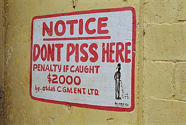 Sign, Montego Bay, Jamaica, West Indies, Caribbean, Central America