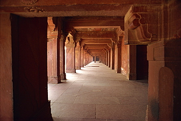 Fatehpur Sikri, UNESCO World Heritage Site, built by Akbar in 1570 as his administrative capital, later abandoned, Uttar Pradesh state, India, Asia