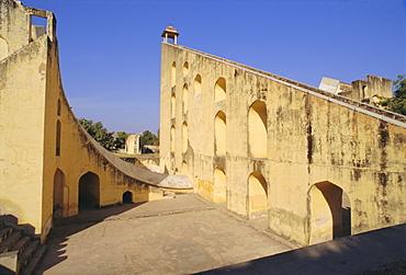 The Jantar Mantar built in 1728-34 by Jai Singh II as an observatory, Jaipur, Rajasthan, India