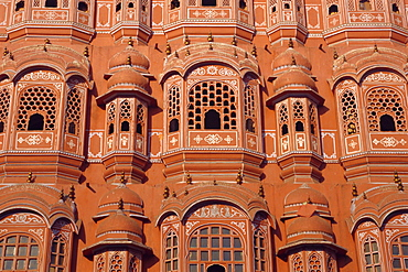 Palace of the Winds (Hawa Mahal) for ladies in purdur to watch from, Jaipur, Rajasthan, India