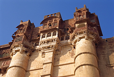 The Meherangarh Fort built in 1459 AD, Jodhpur, Rajasthan state, India, Asia