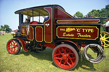 Close-up of traction engine, England, United Kingdom, Europe