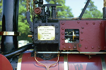 Close-up of steam engine, England, United Kingdom, Europe