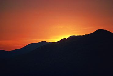Sunset, Murree area, Pakistan, Asia
