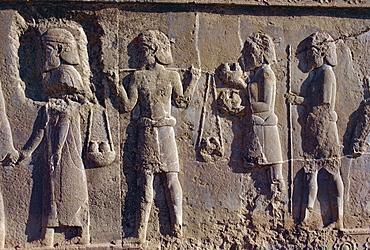 Reliefs, Persepolis, UNESCO World Heritage Site, Iran, Middle East
