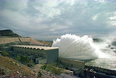 Mangla Dam, taken in the 1970s, Pakistan, Asia