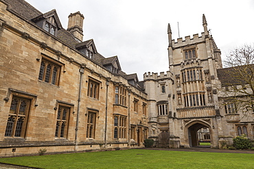 St. John's Quad, Magdalen College, Oxford, Oxfordshire, England, United Kingdom, Europe