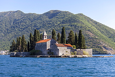 St. George's Island, Bay of Kotor, UNESCO World Heritage Site, Montenegro, Europe