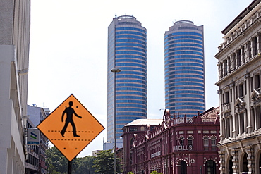 Cargills Shopping Promenade with business district beyond, Colombo, Sri Lanka, Asia