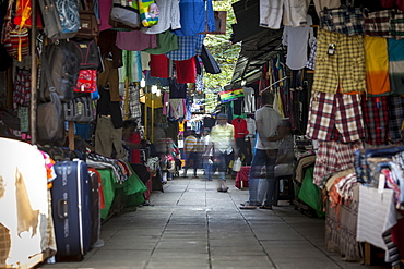 Clothing on sale at Pettah Market, Colombo, Sri Lanka, Asia