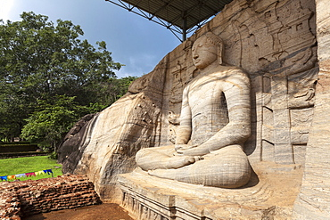 Seated Buddha, Gal Vihara, Polonnaruwa, UNESCO World Heritage Site, Sri Lanka, Asia