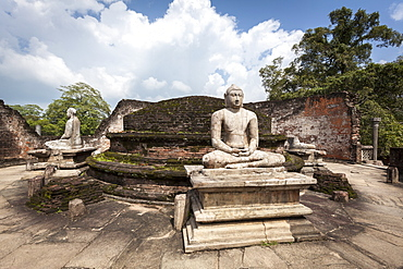 Vatadage ancient ruins, Polonnaruwa, UNESCO World Heritage Site, Sri Lanka, Asia