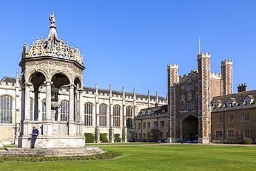 The Great Court, Trinity College, Cambridge, Cambridgeshire, England, United Kingdom, Europe