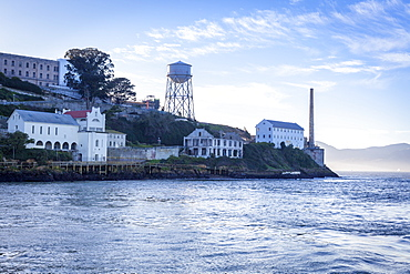 Alcatraz as viewed from a boat, San Francisco, California, United States of America, North America