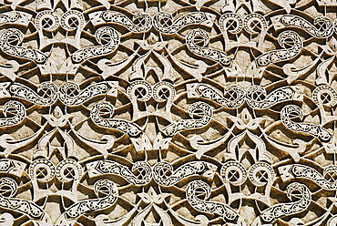 Architectural detail at Ben Youssef Medersa, Marrakesh, Morocco