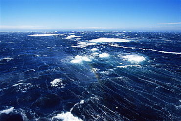 Strong Katabatic winds off Paulet Island, Antarctica, Southern Ocean.