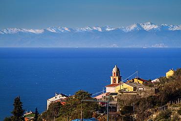 Village near Framura, Liguria, Italy, Europe