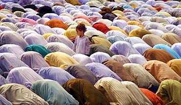 Eid prayer on the Red Road in Kolkata, India