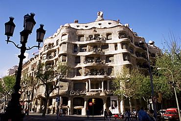 Gaudi's Casa Mila (La Pedrera), Barcelona, Catalonia, Spain, Europe