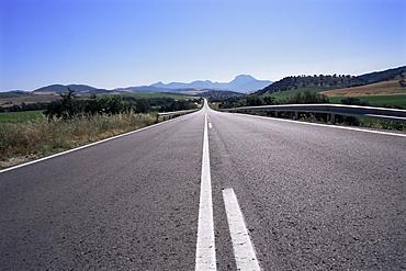 Road between Arcos de a Frontera and Grazalema, Andalucia, Spain, Europe