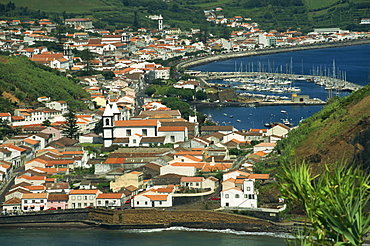 View from Monte de Guia of Horta, Faial, Azores, Portugal, Atlantic, Europe