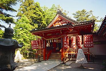 Temple in Kenrokuen Garden, Kanazawa, Japan, Asia
