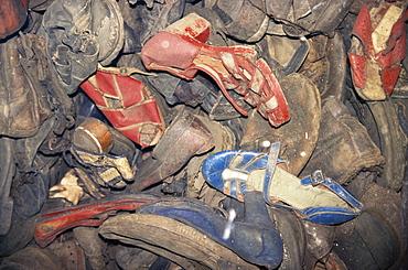 Prisoners' shoes, Auschwitz, Makopolska, Poland, Europe