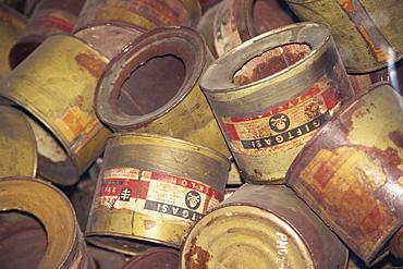 Cyclon B poison cannisters, Auschwitz, Makopolska, Poland, Europe