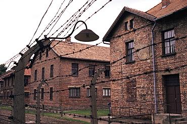 Cell blocks, Auschwitz Concentration Camp, UNESCO World Heritage Site, Makopolska, Poland, Europe
