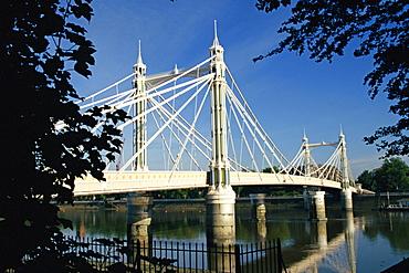Royal Albert Bridge, Chelsea, London, England, United Kingdom, Europe