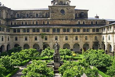 Benedictine monastery dating from the 17th century, Samos, Lugo, Galicia, Spain, Europe