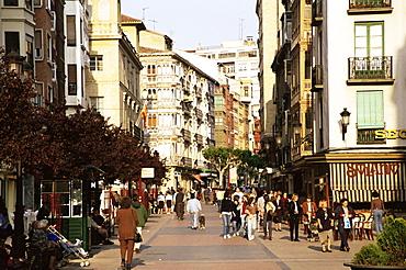 Main street, Paseo Calle Portales, Logrono, La Rioja, Spain, Europe