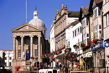 Market House dating from 1838, Market Jew Street, Penzance, Cornwall, England, United Kingdom, Europe
