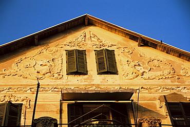 Moulding on villa near Old Town, Dubrovnik, Dalmatia, Croatia, Europe