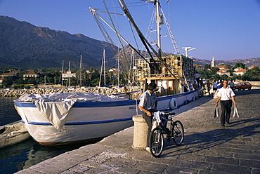 Fishing boat, Orebic, Peljesac peninsula, Croatia, Europe