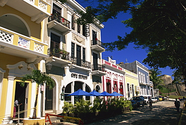 Typical street in the Old Town, San Juan, Puerto Rico, Central America